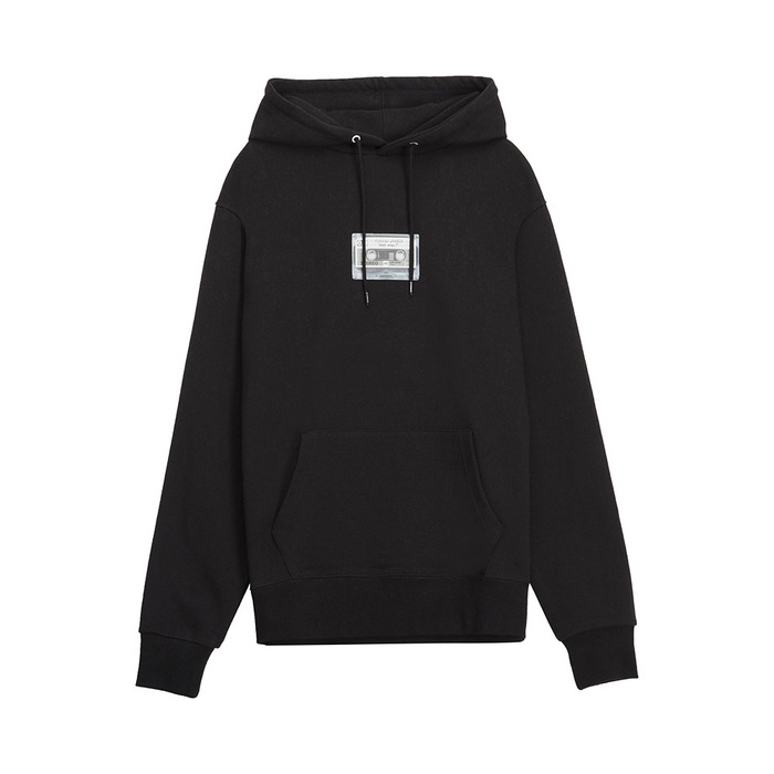 [AW16 Music] Tape Hoodie(Black) STEREO-SHOP