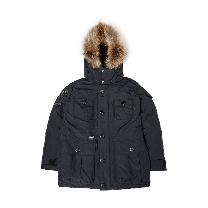 [PSLN] Explorer Parka Down Jacket (Black) 스테레오 바이널즈
