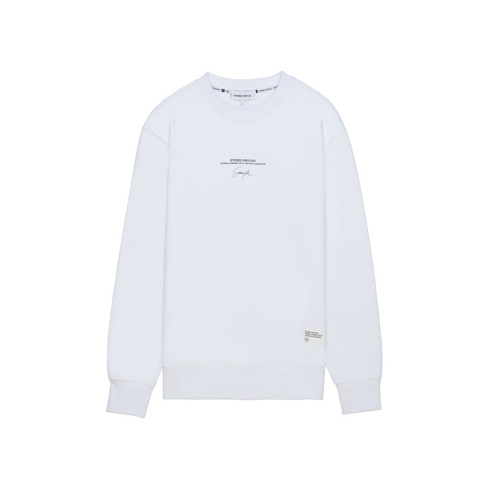 [AG] Handwriting Stereo Sweatshirt(WHITE) 스테레오 바이널즈