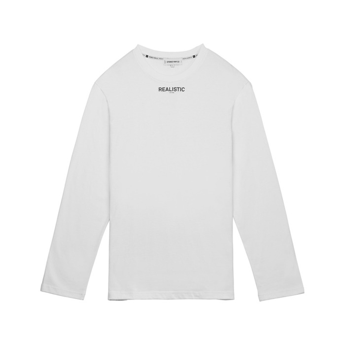 [AW16 Music] Realistic L/S Tee(White) STEREO-SHOP
