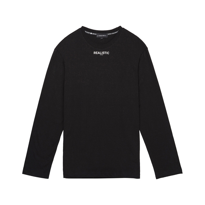 [AW16 Music] Realistic L/S Tee(Black) STEREO-SHOP