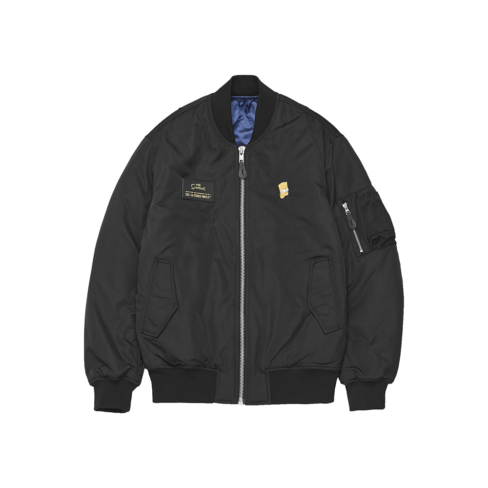 [AW16 Simpsons] MA-1 Jacket(Black) STEREO-SHOP
