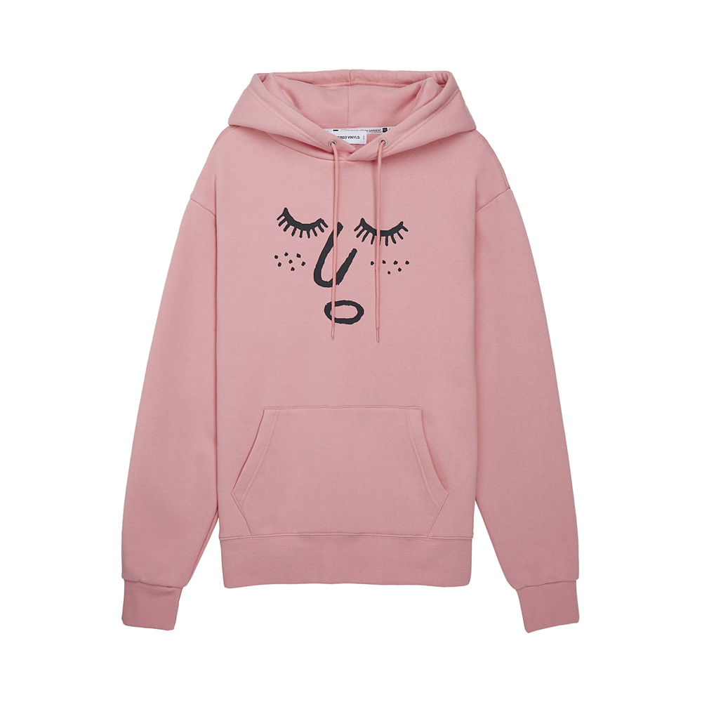 [AW16 JJ x SV] Face Fleece Hoodie(Pink) STEREO-SHOP
