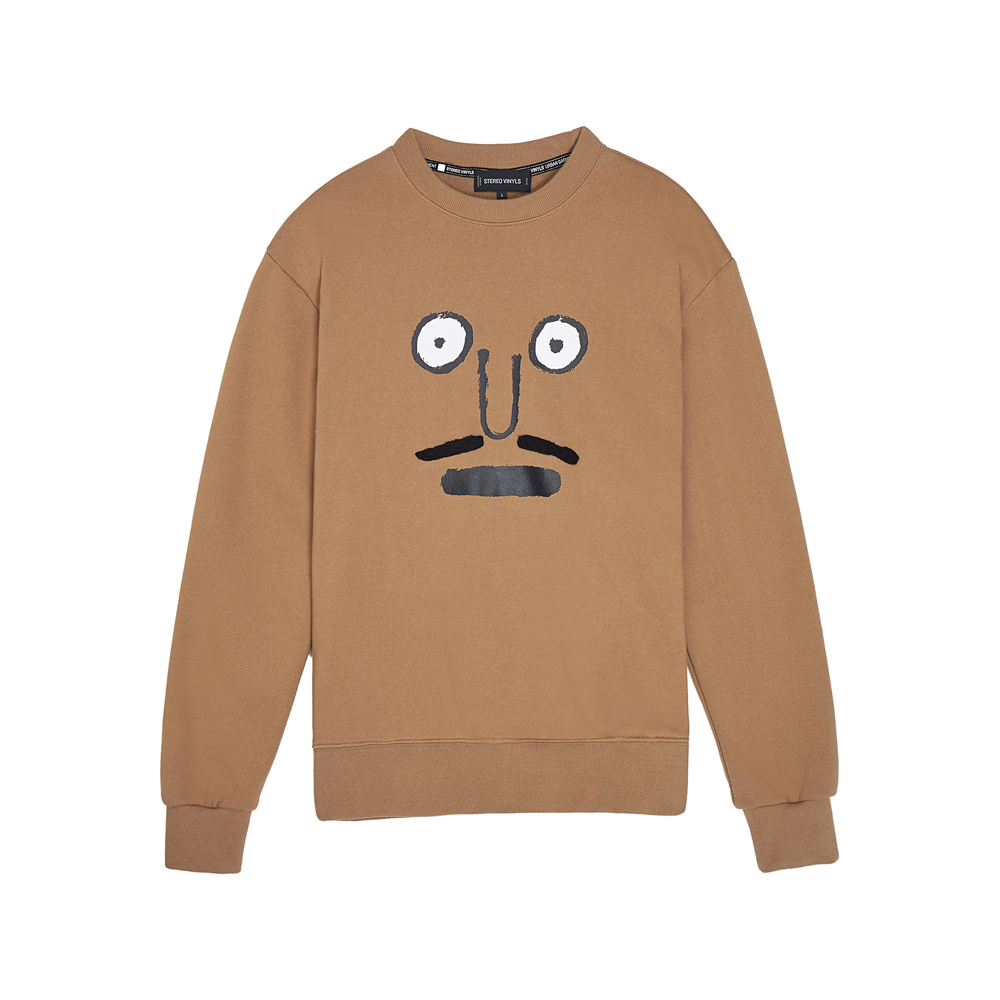 [AW16 JJ x SV] Face Fleece Sweatshirt(Beige)
