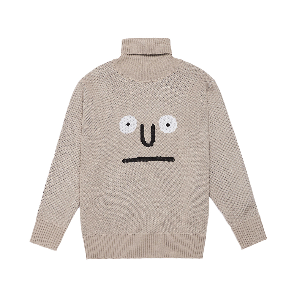 [AW16 JJ x SV] Turtleneck Knit Pullover(Dark Beige) 스테레오 바이널즈