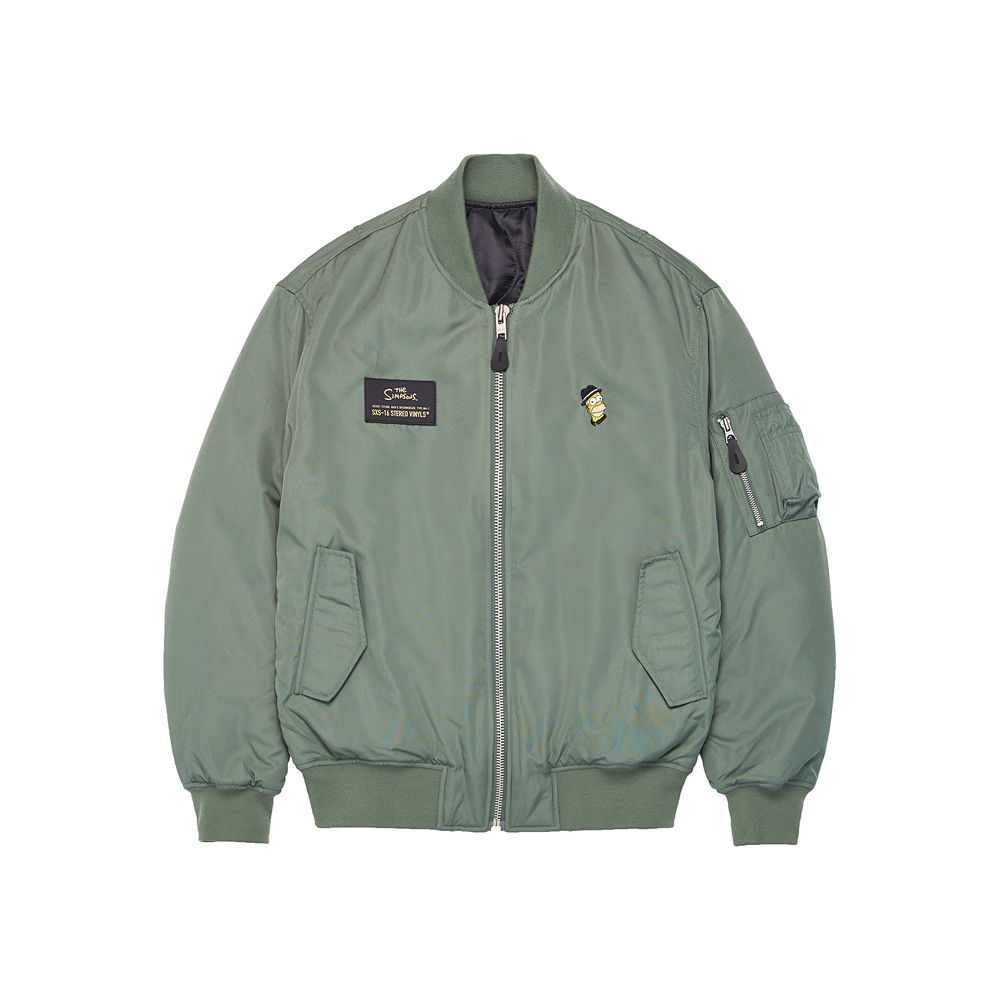 [AW16 Simpsons] MA-1 Jacket(Khaki) STEREO-SHOP