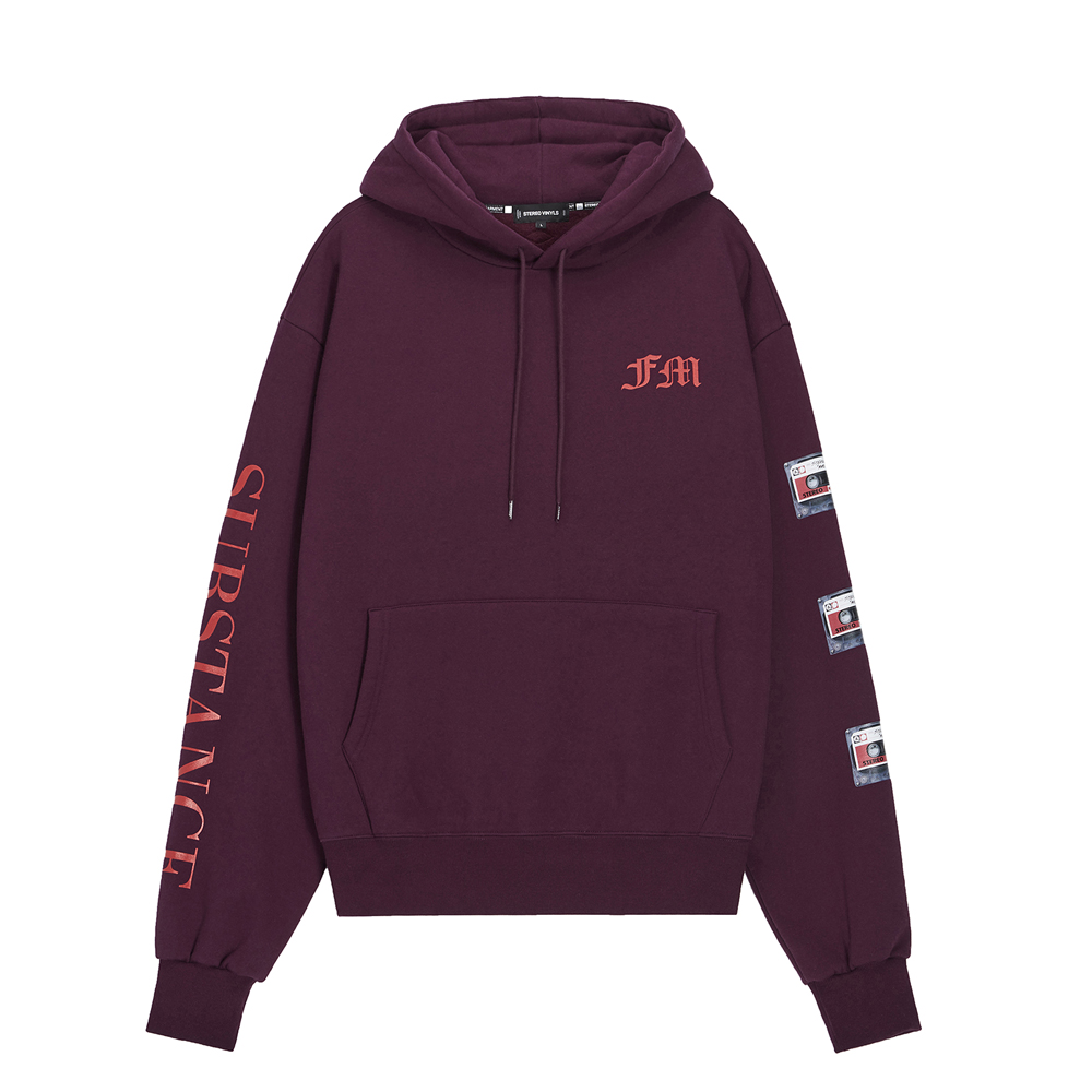 [AW16 Music] Tape Oversized Hoodie(Purple) 스테레오 바이널즈