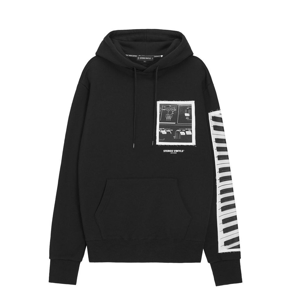 [AW16 Music] Keyboard Hoodie(Black) STEREO-SHOP