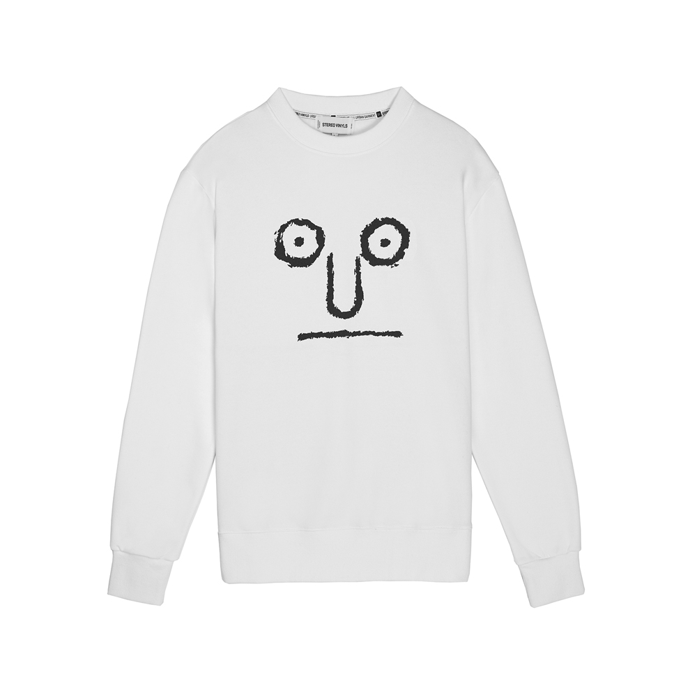 [AW16 JJ x SV] Face Terry Sweatshirt(White) 스테레오 바이널즈