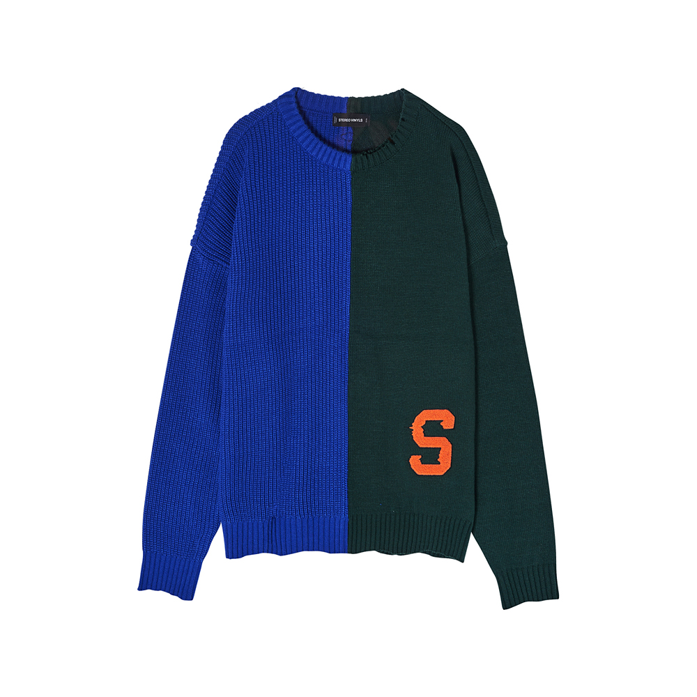 [SS17 Colour] Boucle Letter Knit(Blue) 스테레오 바이널즈
