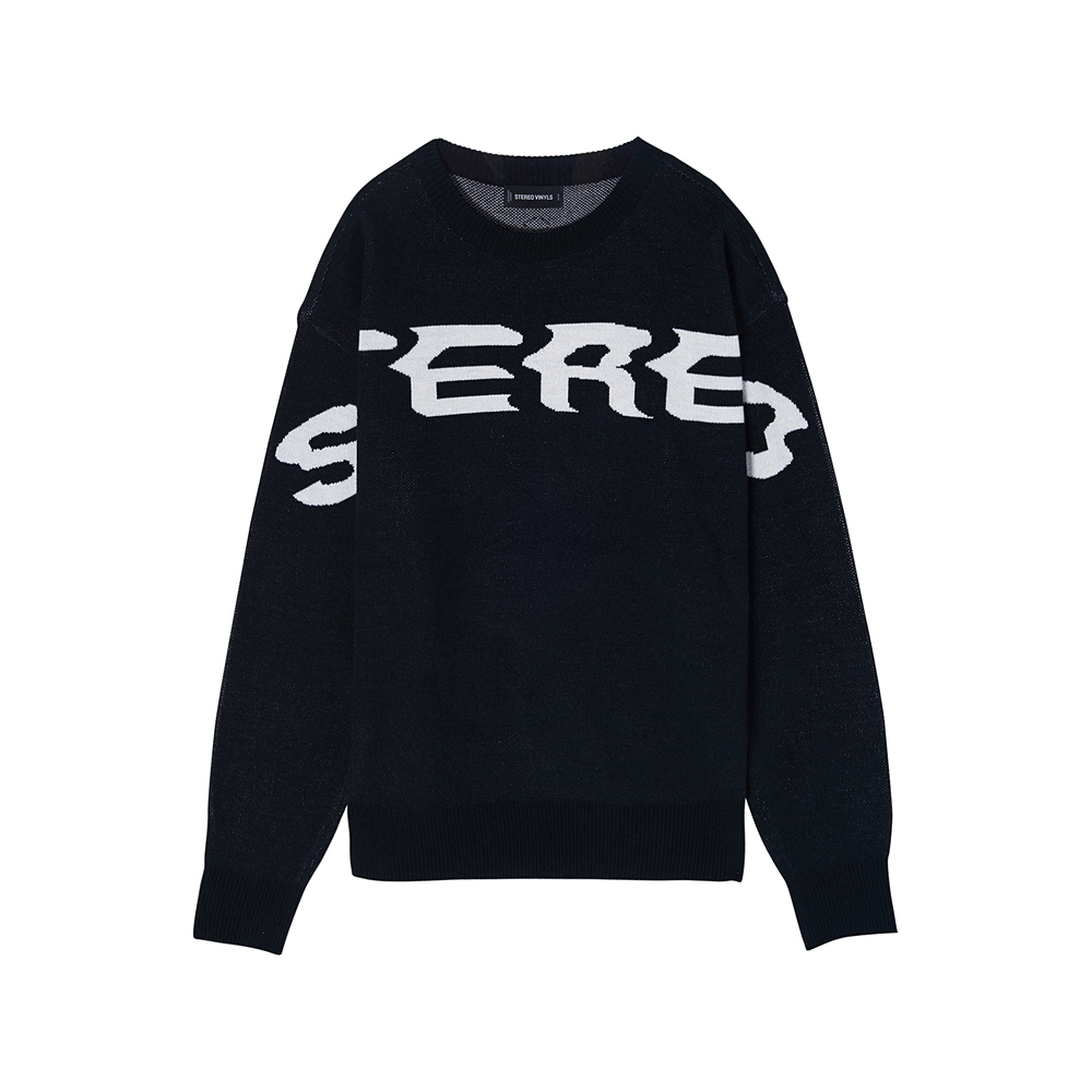 [SS17 Colour] Logo Jacquard Knit(Black) 스테레오 바이널즈
