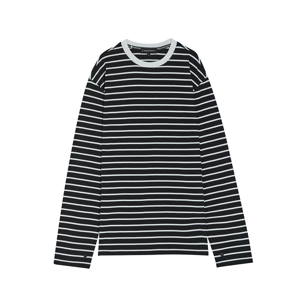 [SS17 Colour] Stripe Long Sleeve(Black) 스테레오 바이널즈