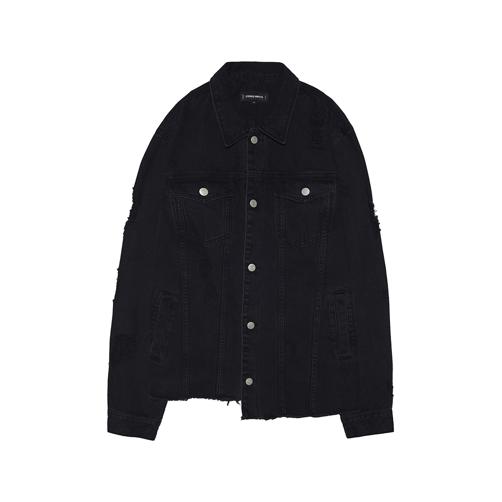 [SS17 Colour] Trucker Denim Jacket(Black) 스테레오 바이널즈