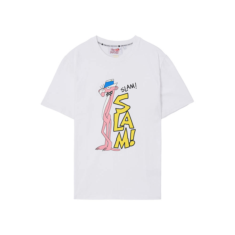 [Pink Panther] Slam S/S T-shirts(White) 스테레오 바이널즈