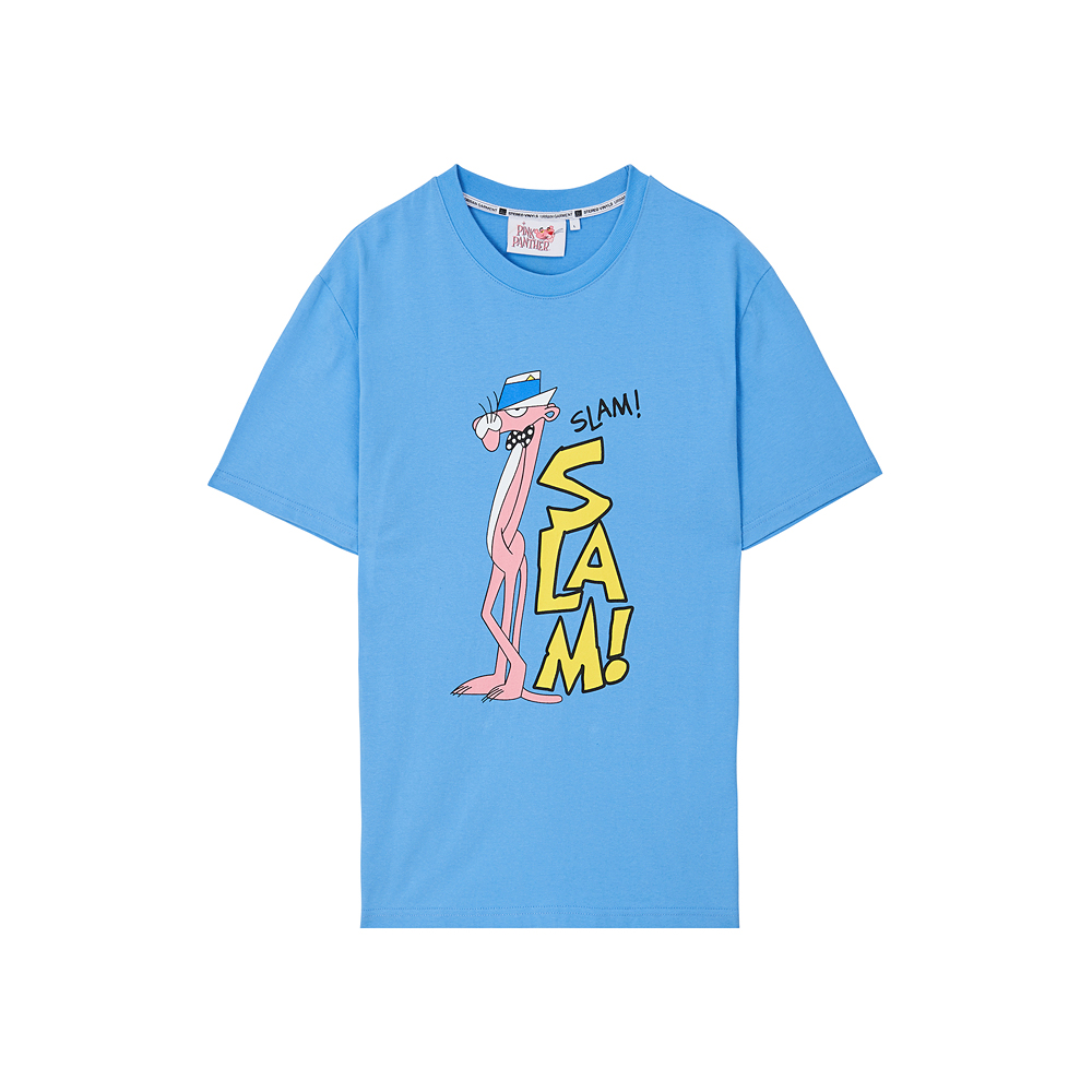 [Pink Panther] Slam S/S T-shirts(Sky Blue) 스테레오 바이널즈