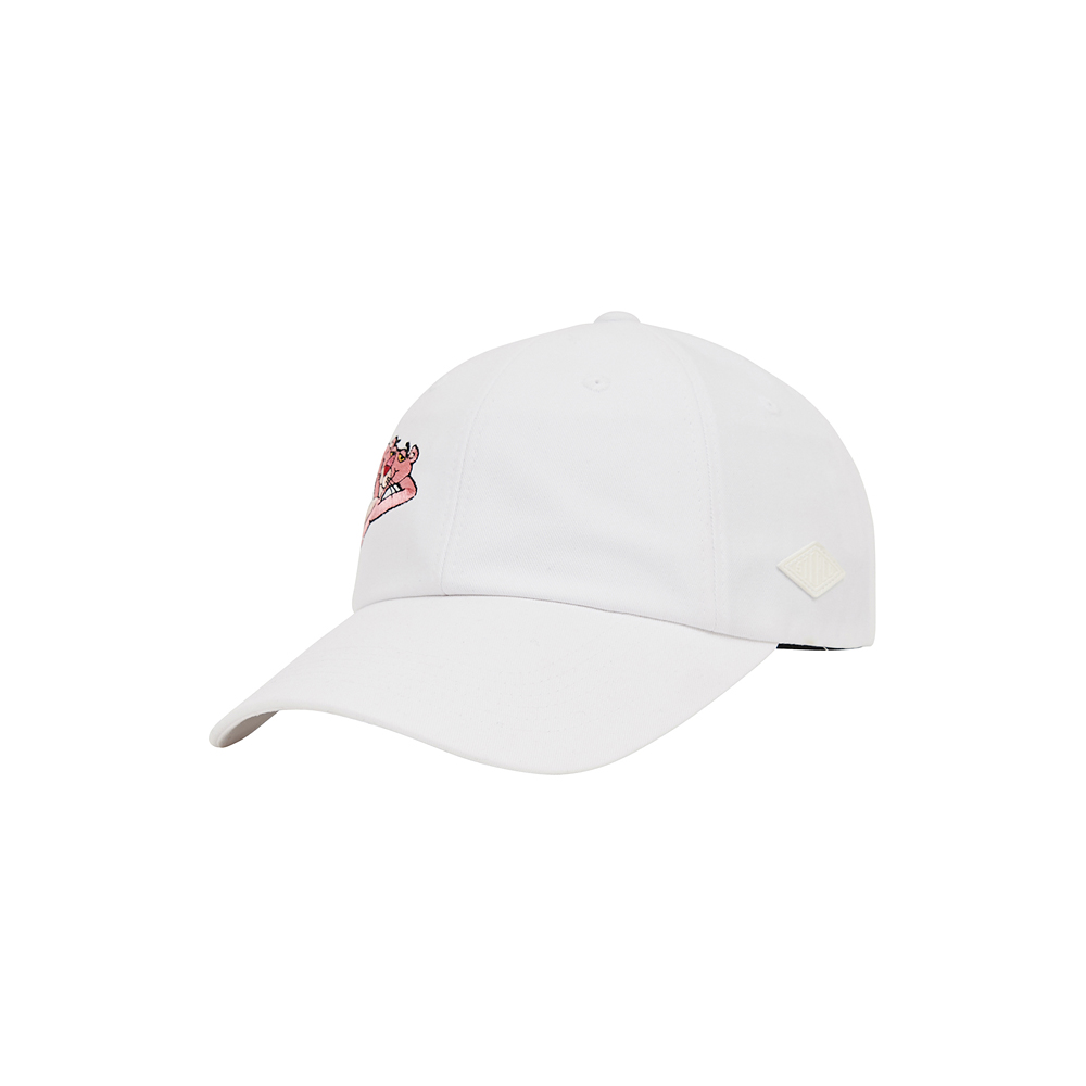 [Pink Panther] Side Print 6P Cap(White) 스테레오 바이널즈