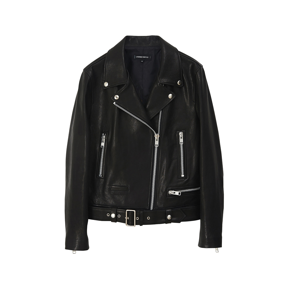 [AW17] Womens Lambskin Rider Jacket(Black) 스테레오 바이널즈