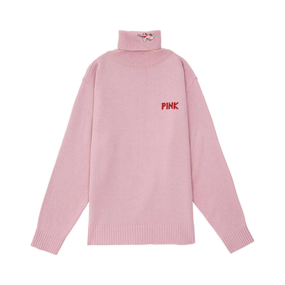 [AW17 Pink Panther] PP Turtleneck Knit(Pink) 스테레오 바이널즈