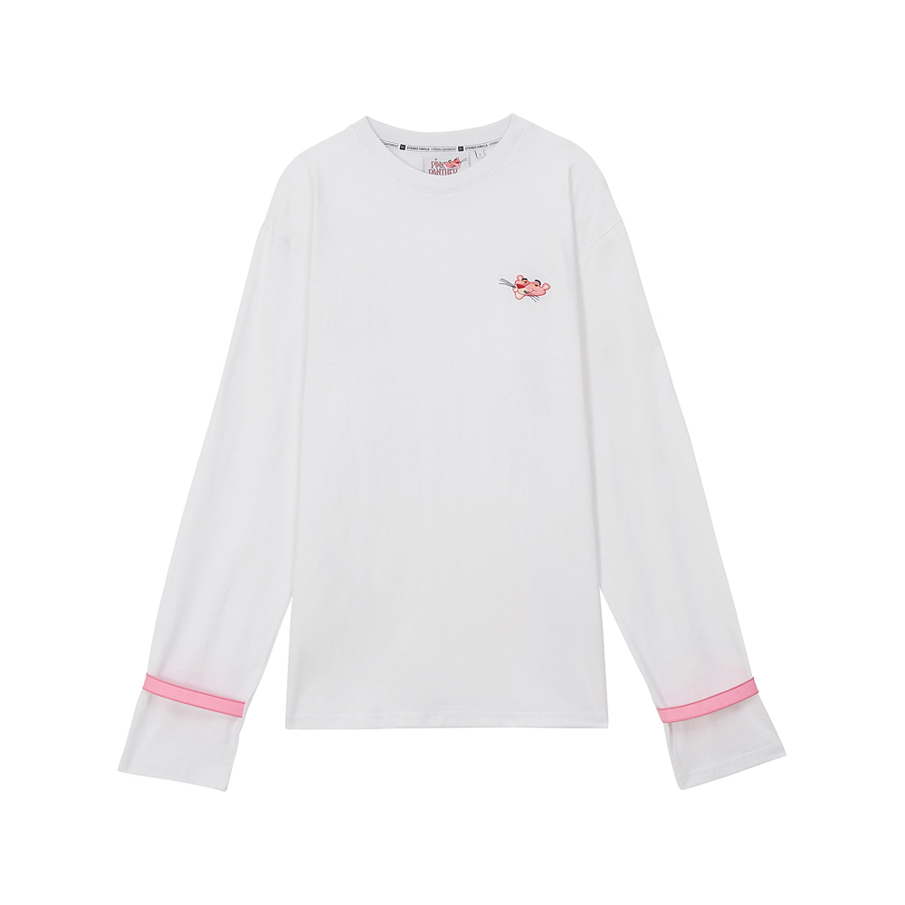 [AW17 Pink Panther] Long Sleeve(White) 스테레오 바이널즈