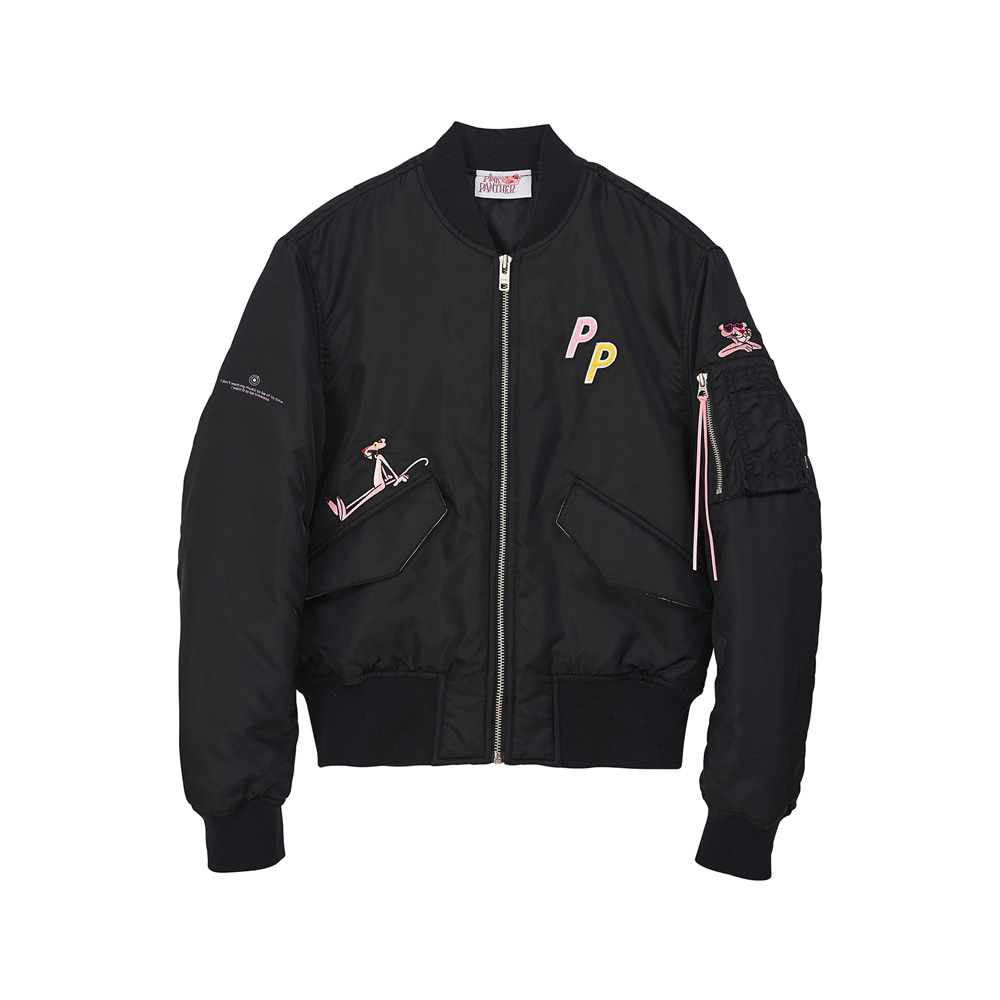 [AW17 Pink Panther] MA-1 Jacket(Black) 스테레오 바이널즈