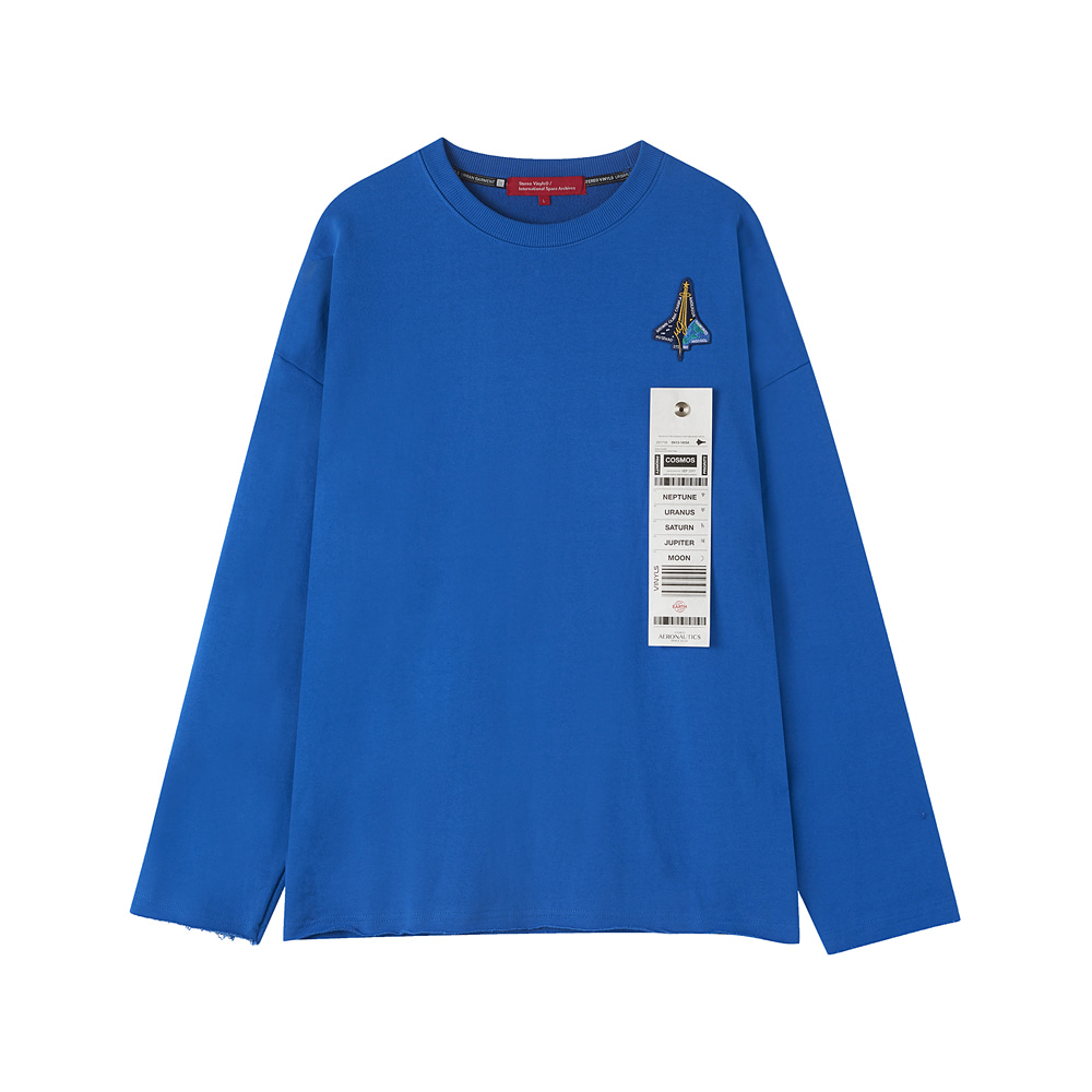 [AW17 ISA] Spaceshuttle Sweatshirt(Blue) 스테레오 바이널즈
