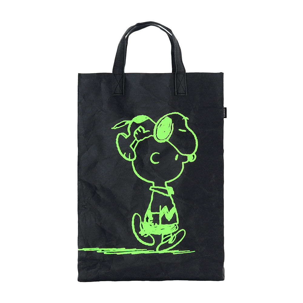 [SS18 Peanuts] Charlie Kraft Bag(Black) 스테레오 바이널즈