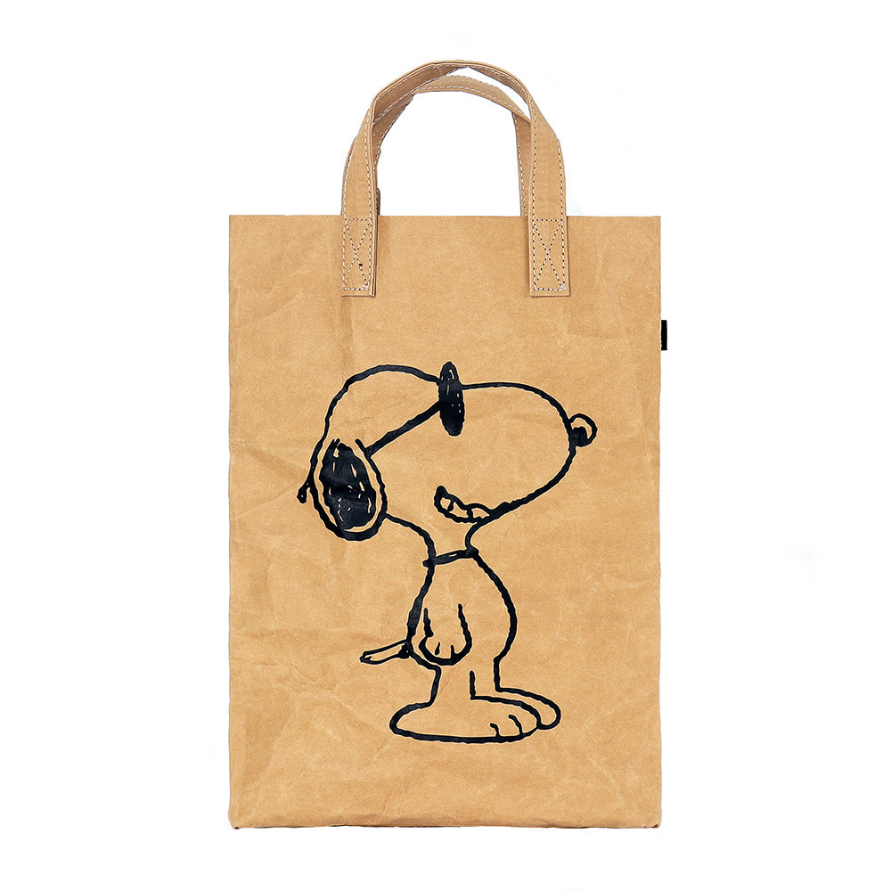 [SS18 Peanuts] Snoopy Kraft Bag(Brown) 스테레오 바이널즈