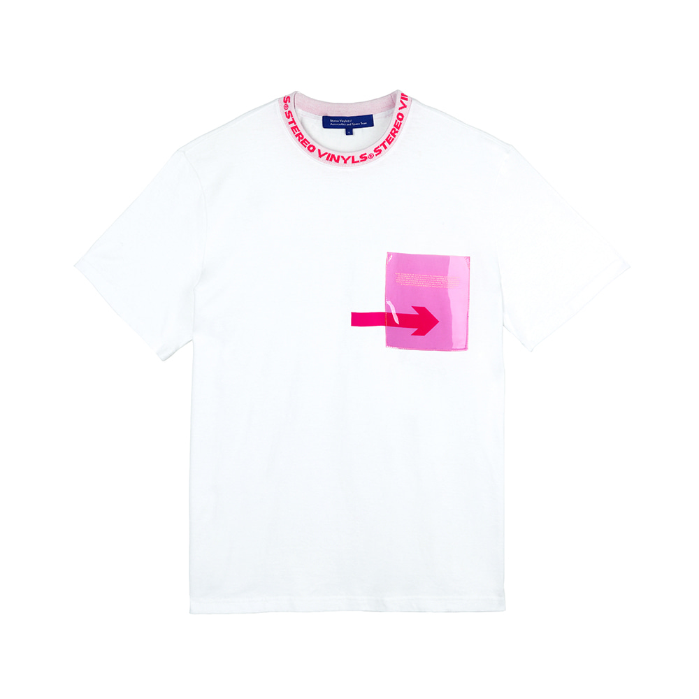 [SS18 ISA] Transparent Pocket T-Shirts(White) 스테레오 바이널즈