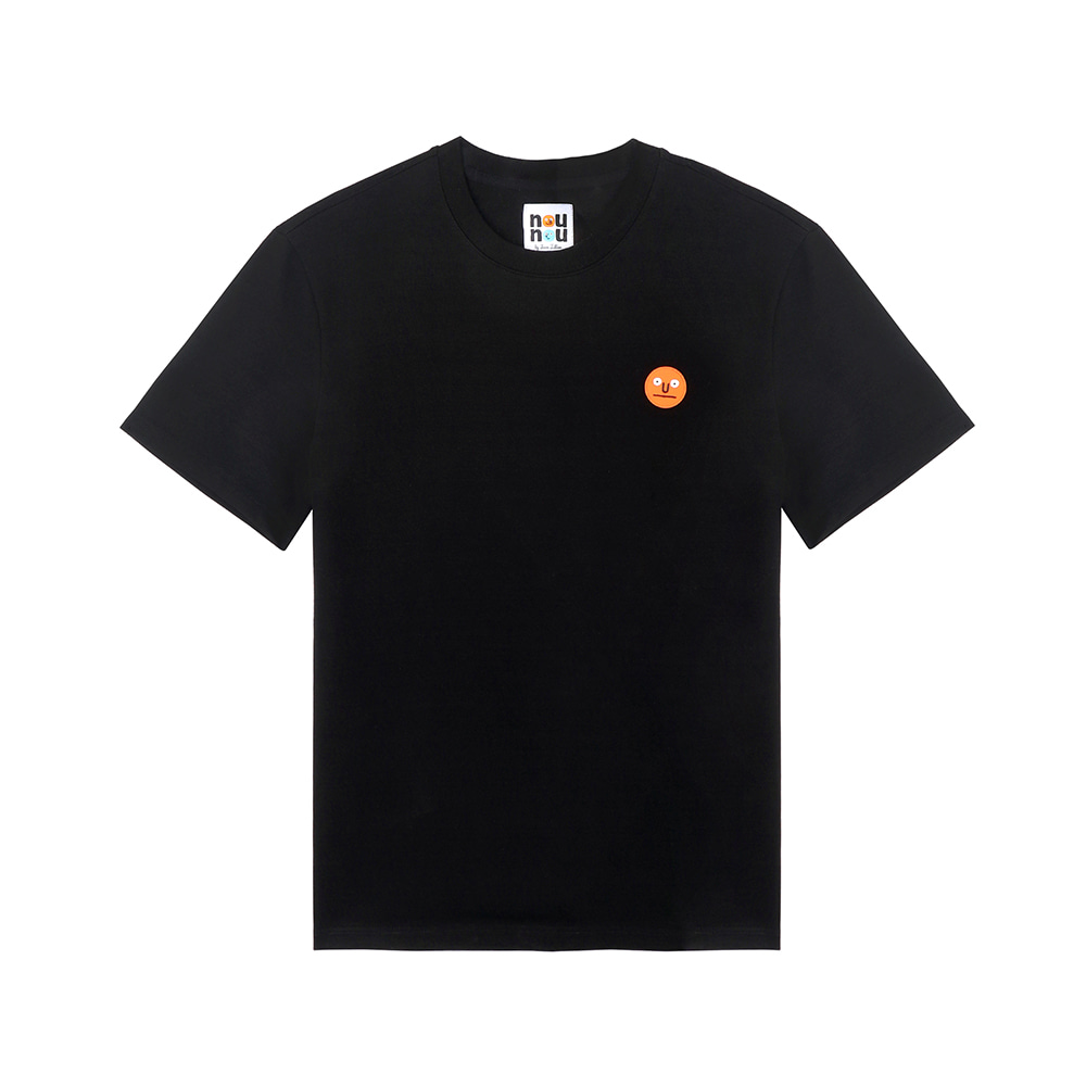 [SS18 NOUNOU] One Point T-Shirts(Black) 스테레오 바이널즈