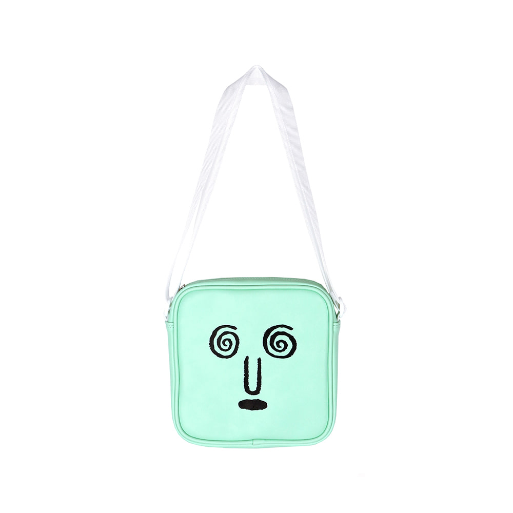 [SS18 NOUNOU] Face Shoulder Bag(Mint) 스테레오 바이널즈