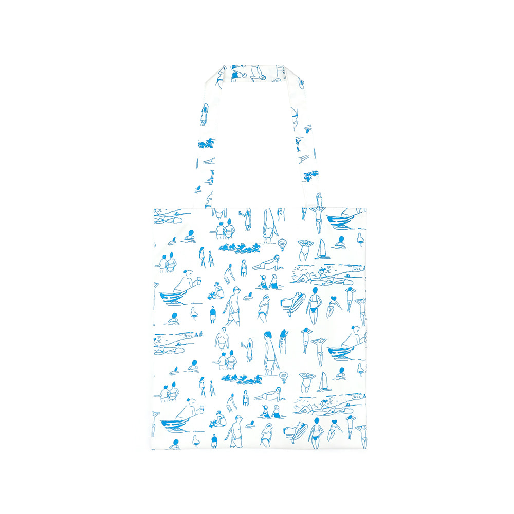 [SS18 NOUNOU] Summer Beach Tote Bag(White) 스테레오 바이널즈