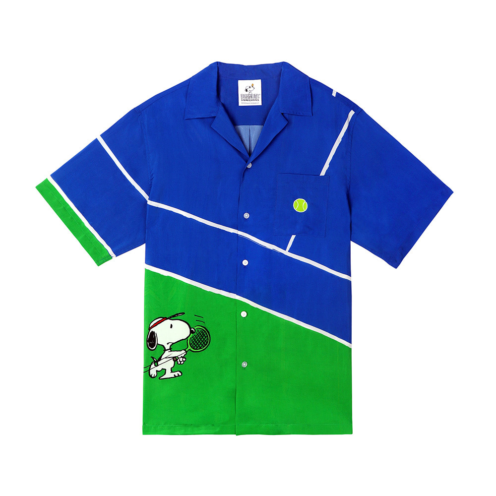 [SM18 Peanuts] Tennis Shirt(Blue) 스테레오 바이널즈