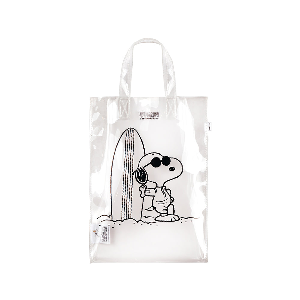 [SM18 Peanuts] Clear PVC Bag(White) 스테레오 바이널즈