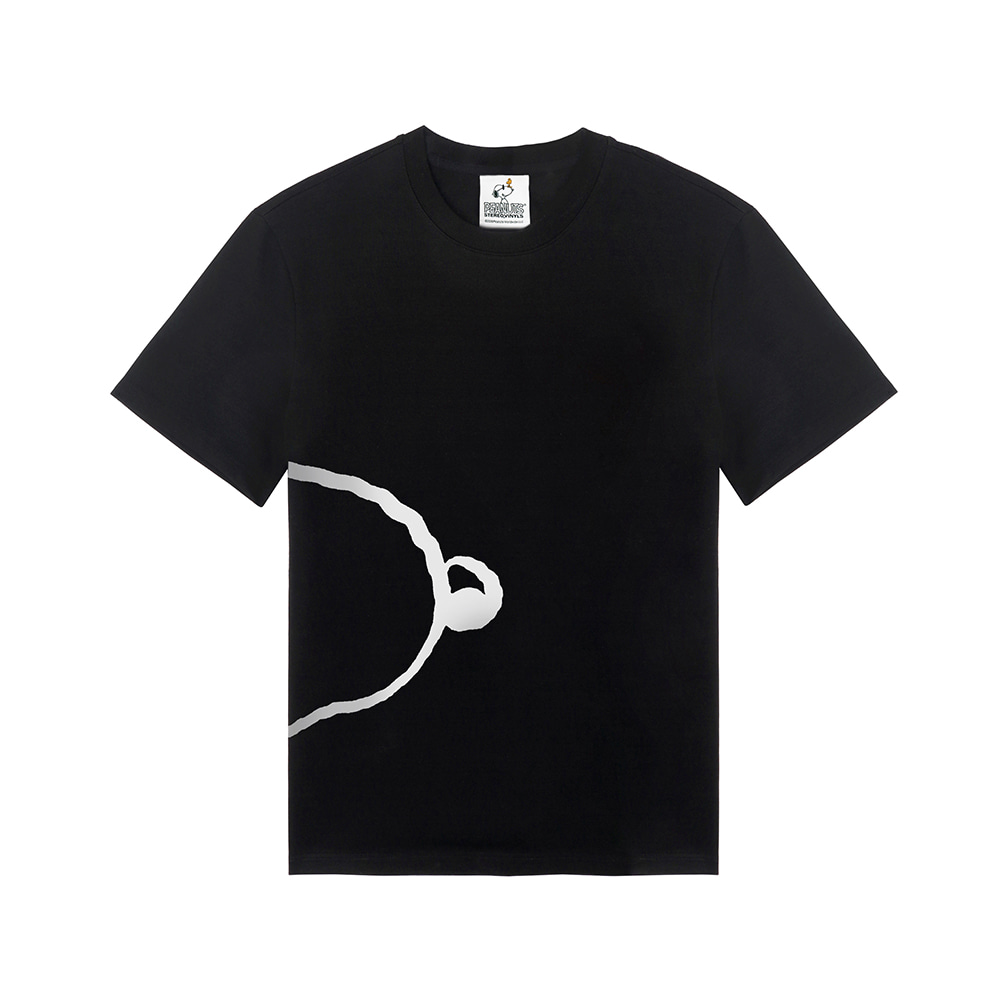[SM18 Peanuts] Snoopy Oversized T-Shirts(Black) 스테레오 바이널즈