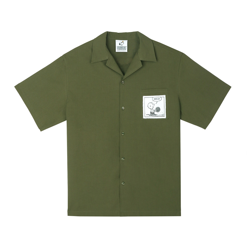 [SM18 Peanuts] Cotton S/S Shirts(Khaki) 스테레오 바이널즈