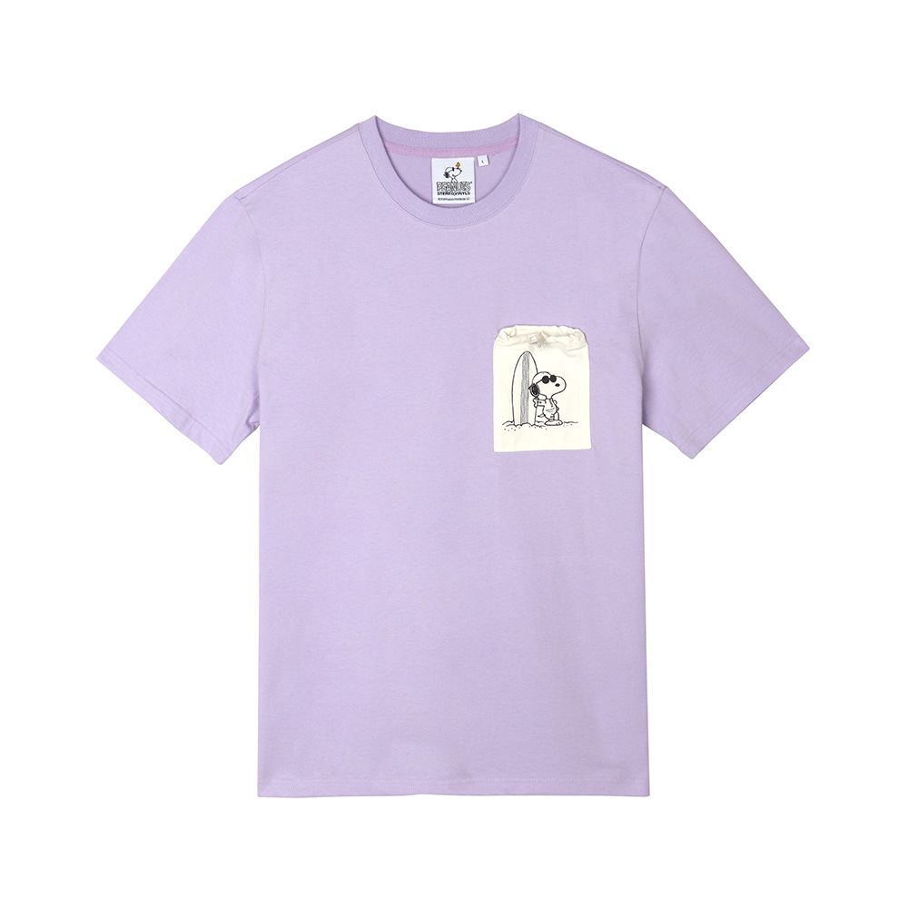 [SM18 Peanuts] Pocket Point T-shirts(Lavender) 스테레오 바이널즈