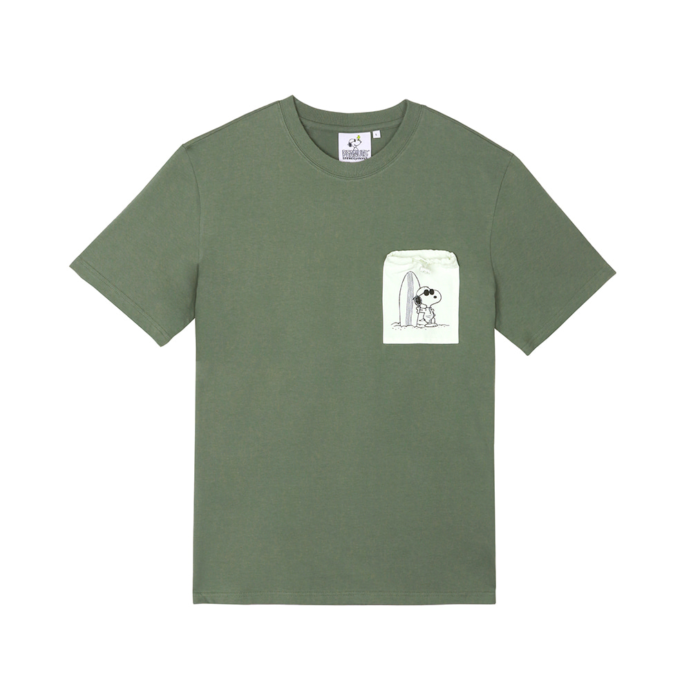 [SM18 Peanuts] Pocket Point T-shirts(Khaki) 스테레오 바이널즈