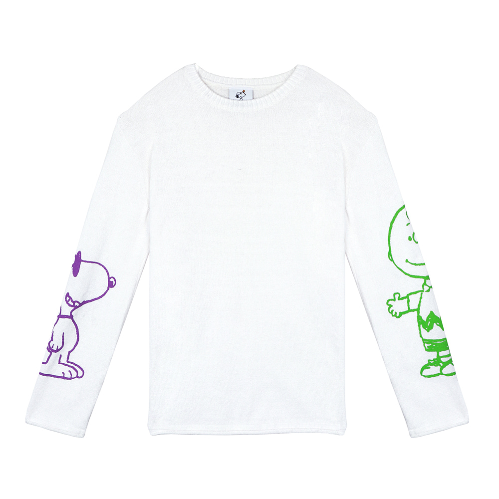 [SM18 Peanuts] Charlie & Joe Cool Knit(White) 스테레오 바이널즈