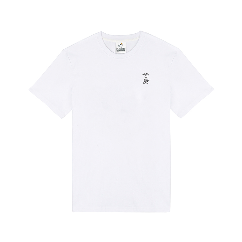 [SM18 Peanuts] Charlie Point T-Shirts(White) 스테레오 바이널즈