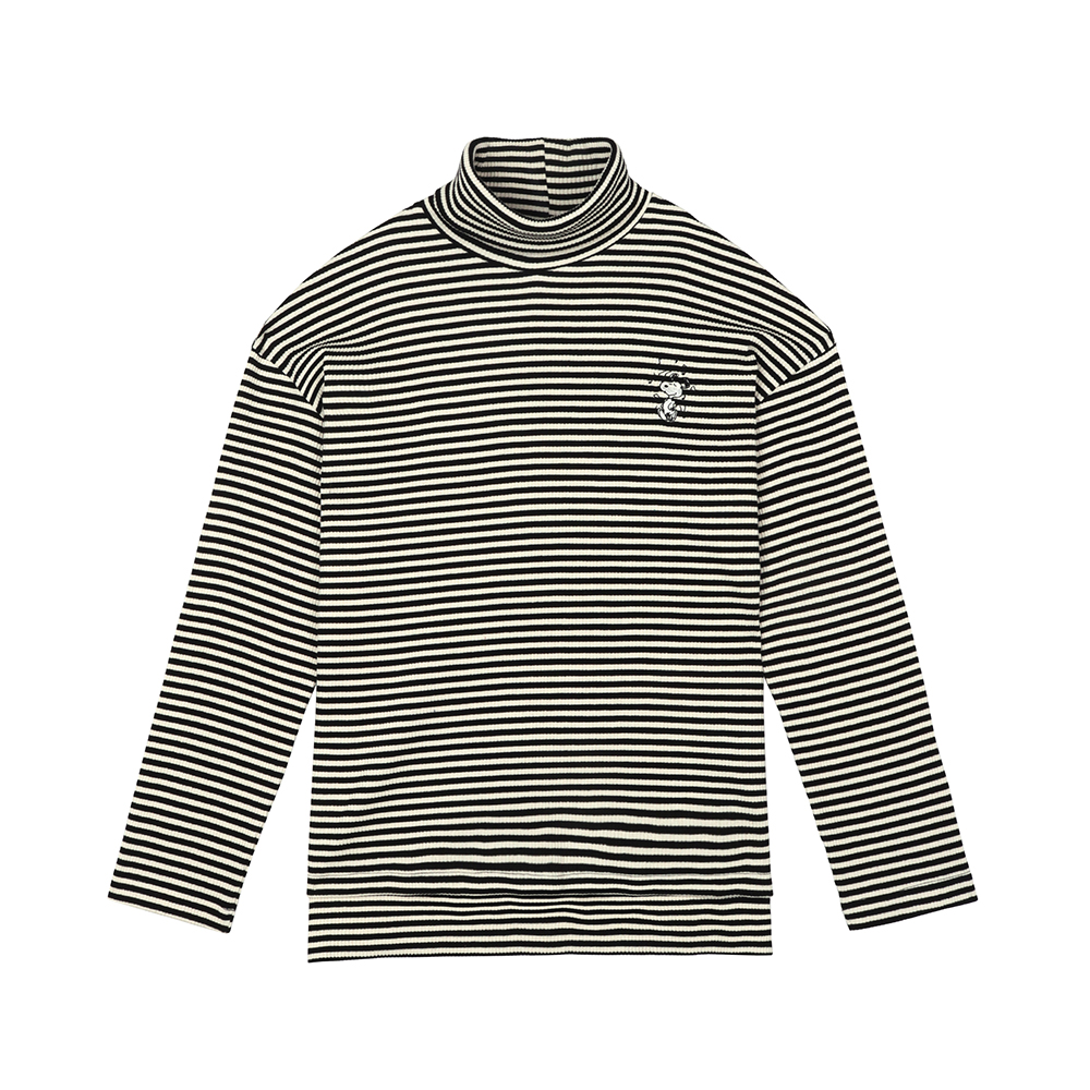 [11월19일 예약주문][FW18 Peanuts] Stripe Turtleneck Long Sleeve(Black) 스테레오 바이널즈