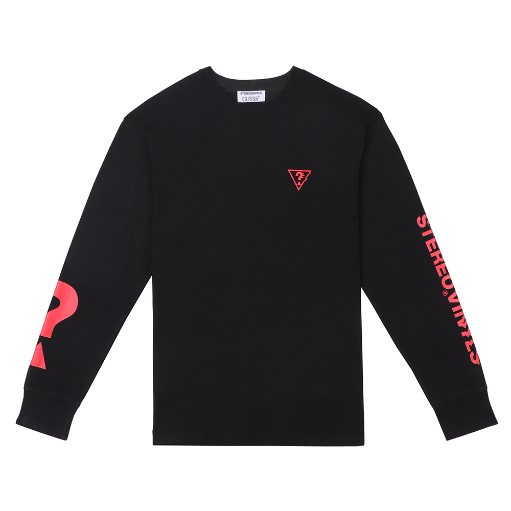 [18FW STEREO X GUESS] Long sleeve TS(Black) 스테레오 바이널즈