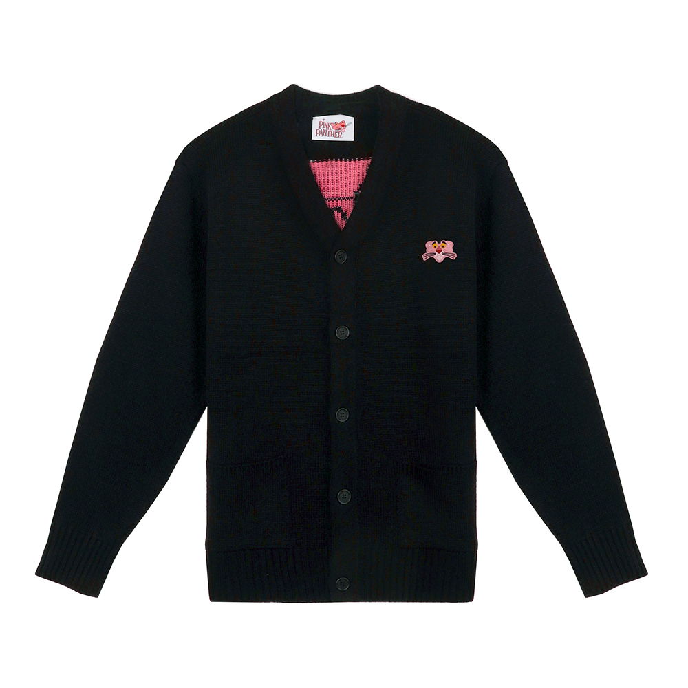 [FW18 Pink Panther] Knit Cardigan(Black) 스테레오 바이널즈