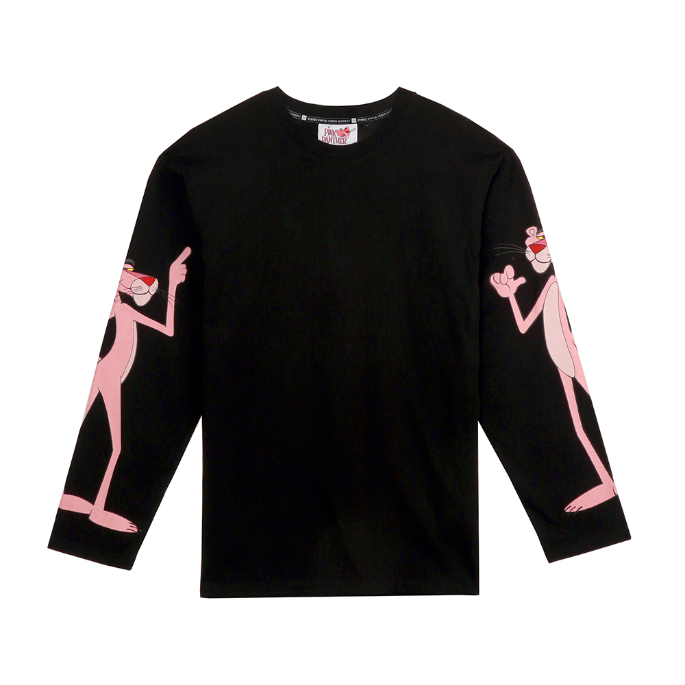 [FW18 Pink Panther] Print Long Sleeve(Black) 스테레오 바이널즈[FW18 Pink Panther] Print Long Sleeve(Black)