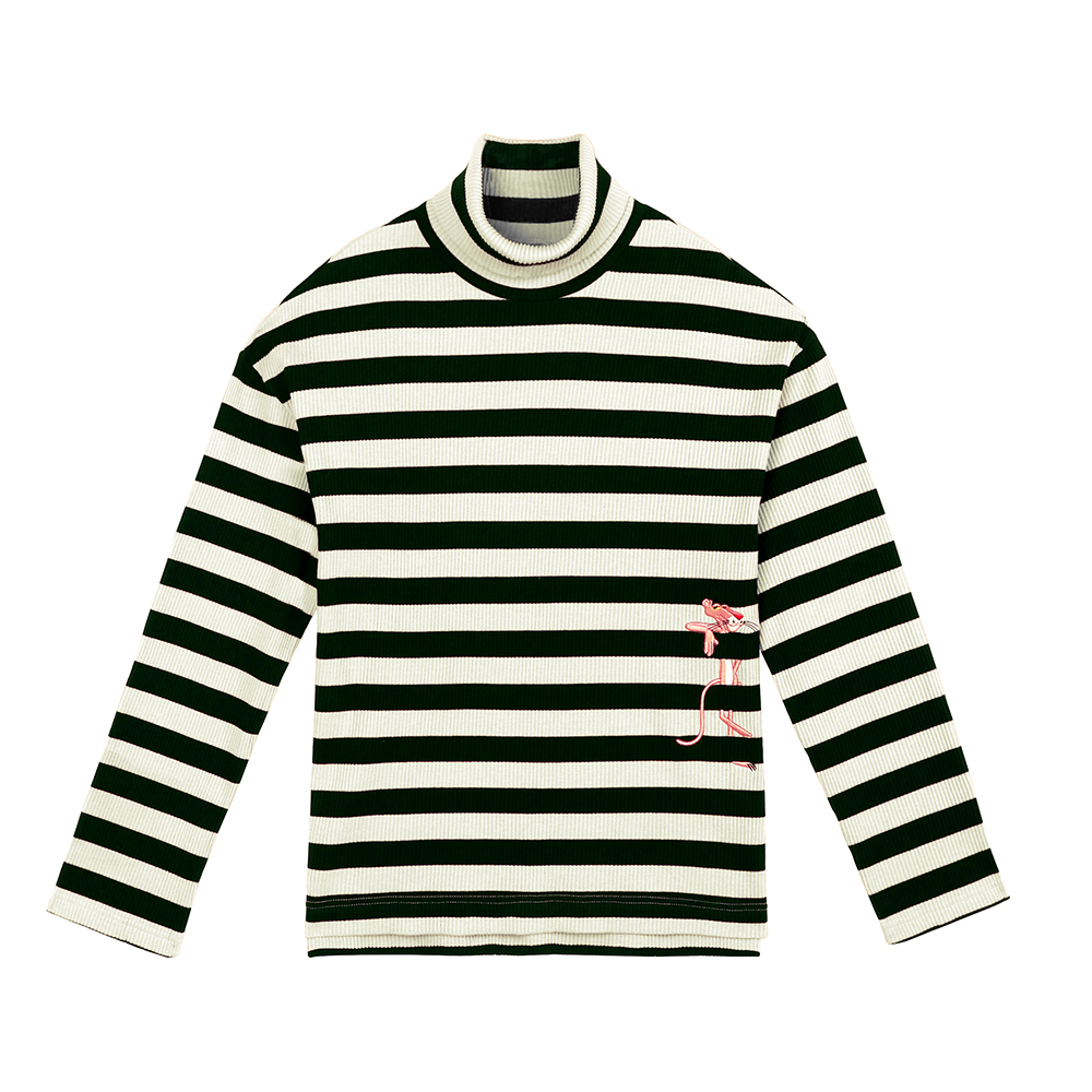 [FW18 Pink Panther] Stripe Turtleneck Long Sleeve(Black) 스테레오 바이널즈[FW18 Pink Panther] Stripe Turtleneck Long Sleeve(Black)