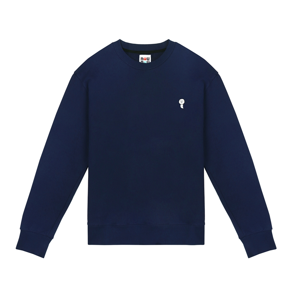 [FW18 NOUNOU] Ghost Fleece Sweatshirts(Navy) 스테레오 바이널즈