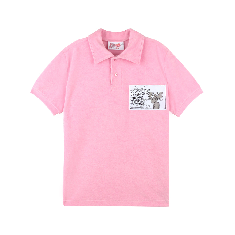 [SS19 Pink Panther] Towel Fabric Collar Shirts(Pink) 스테레오 바이널즈