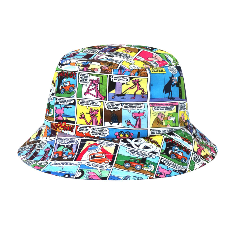 [SS19 Pink Panther] Comics Bucket Hat(Blue) 스테레오 바이널즈