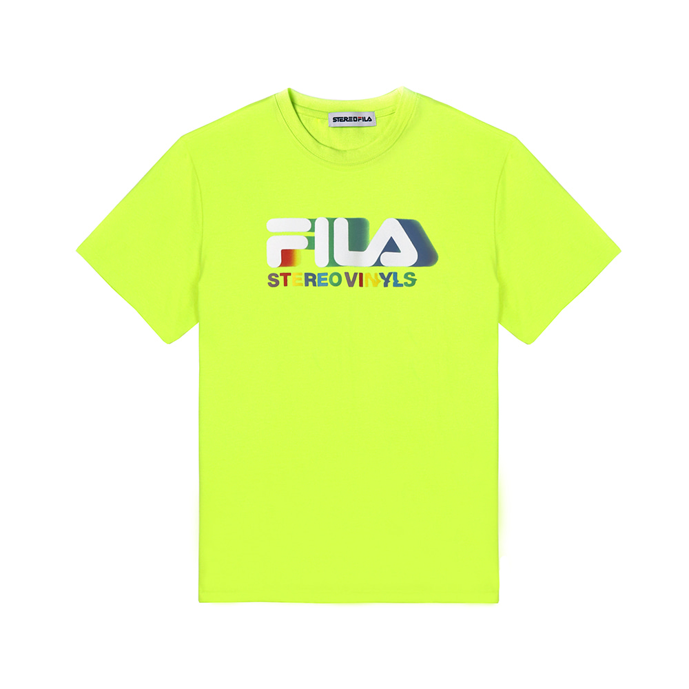 [SS19 STEREO X FILA] Color of Sound S/S Tee(Green) 스테레오 바이널즈