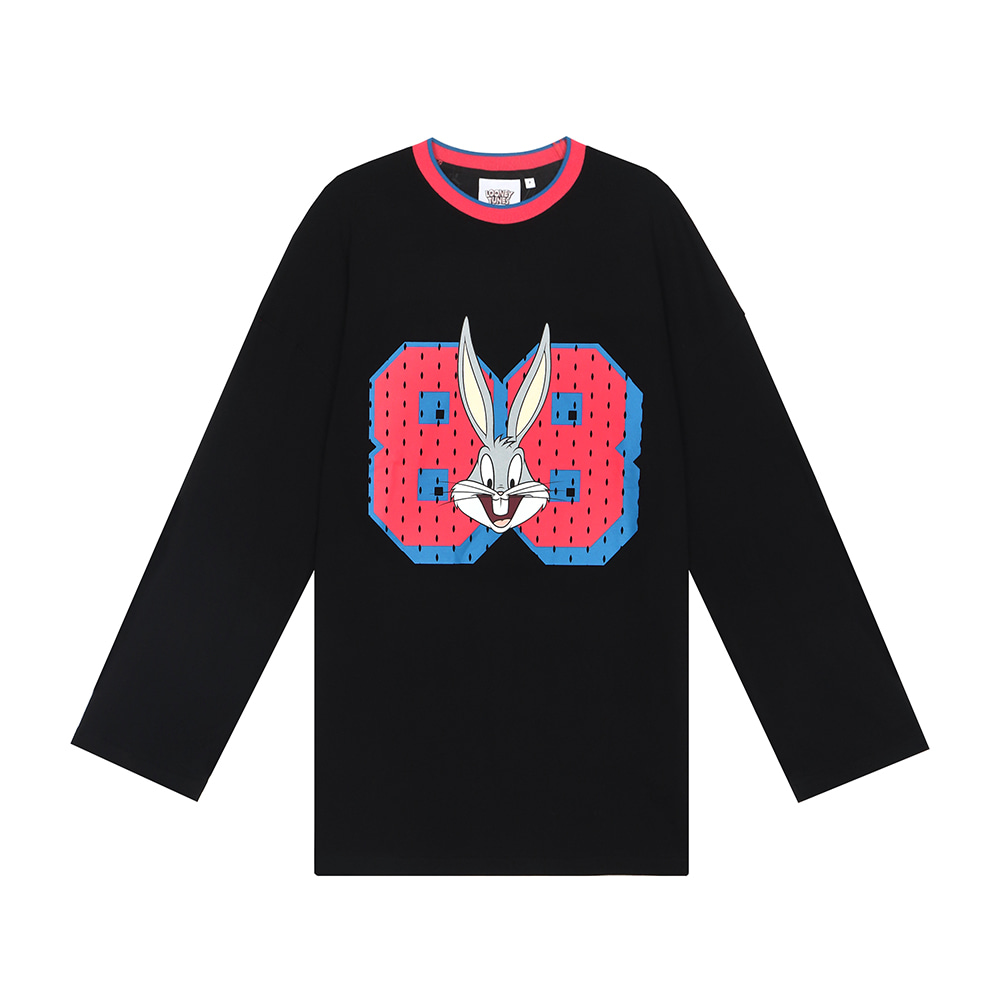 스테레오 바이널즈 - [FW19 Looney Tunes] 88 Bunny Long Sleeve(Black)
