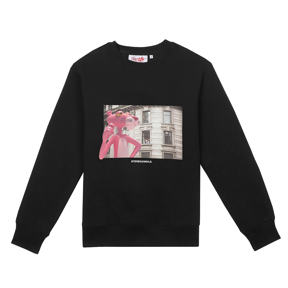 [FW19 Pink Panther] Picture Sweatshirts(Black) 스테레오 바이널즈[FW19 Pink Panther] Picture Sweatshirts(Black)